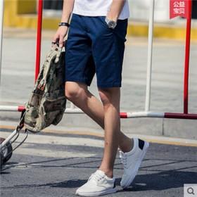 纯棉中裤男装短裤五分裤男夏季沙滩裤男夏天潮