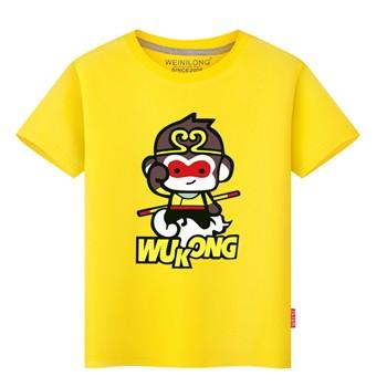维尼龙纯棉儿童短袖夏装男童女童T恤卡通图案