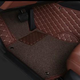 品牌杭绣全包围丝圈汽车脚垫 所有车型均可定做