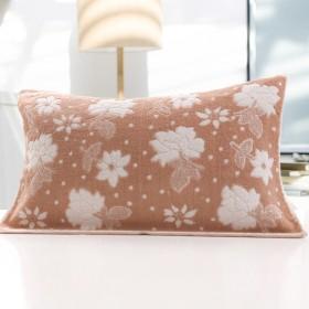 纯棉枕巾一对全棉加大加厚单人枕头巾特价品牌通