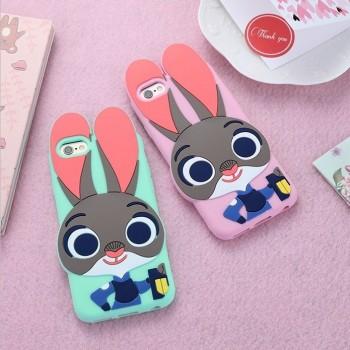 【包邮】 朱迪兔iphone6 plus苹果6s硅胶手机壳