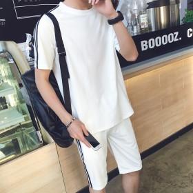 2016夏季太空棉短袖短裤休闲运动套装男