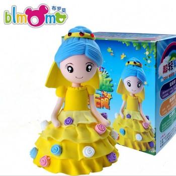【包邮】 幼儿创意手工制作diy公主款彩泥轻粘土套装