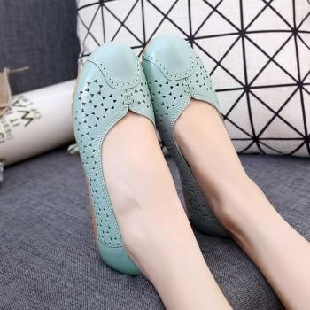 花冠 夏季新款头层牛皮防滑软底妈妈凉鞋