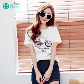 孕妇T恤上衣纯棉夏季韩版印花显瘦短袖孕妇装夏装