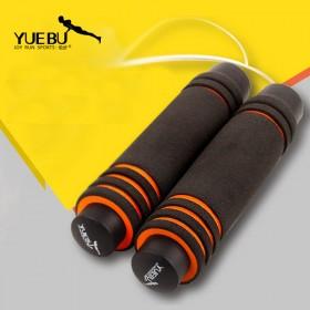 悦步专业轴承比赛跳绳双色手柄钢丝绳长度可调节