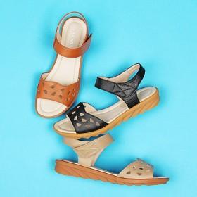 夏季真皮软底女妈妈鞋凉鞋