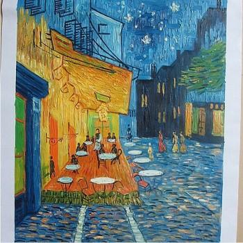 【包邮】 品牌纯手绘油画 梵高《星空》《咖啡屋》