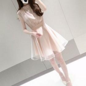 女版纯色无袖连衣裙