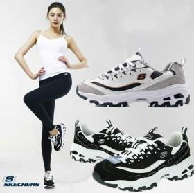 品牌斯凯奇女鞋 夏季透气熊猫跑步鞋 男女运动情侣鞋