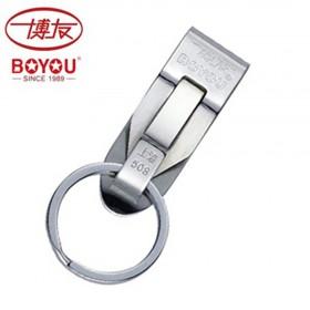品牌博友不锈钢钥匙扣男士多用双环钥匙圈 运动裤腰挂