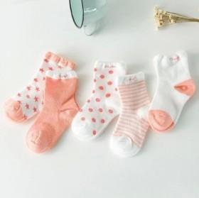5双装夏季网眼童袜0-9岁宝宝袜子