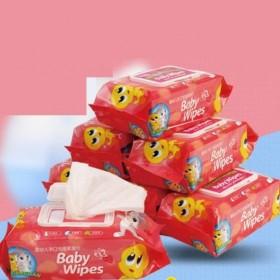 婴儿湿巾宝宝湿纸巾5包500抽无香加盖  请拍5包