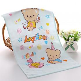 宝宝洗澡巾垫背巾枕巾喂奶巾请拍6条~