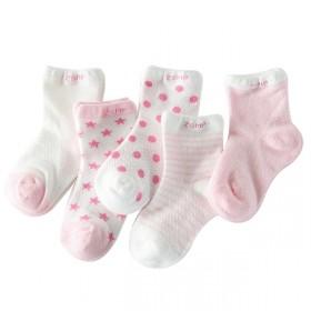 5双装夏季网眼袜糖果色儿童袜袜子