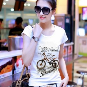 女版印花短袖t恤