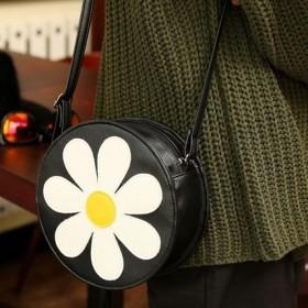 小清新花朵可爱单肩包