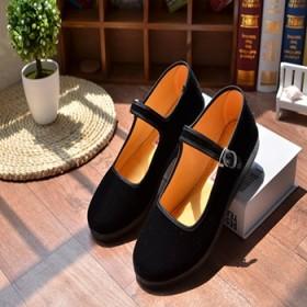 老北京布鞋黑工作鞋女低帮鞋酒店市妈妈广场舞蹈鞋