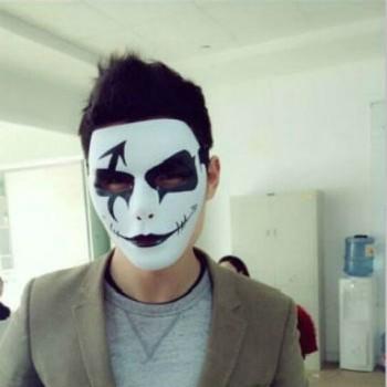 【包邮】 鬼步舞手绘面具 手绘面具 假面面具 街舞舞客面具