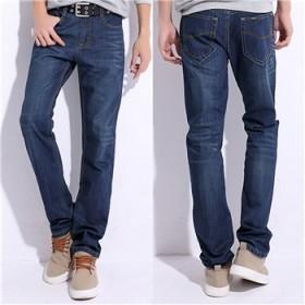 夏季青春牛仔裤男薄款显瘦青年直筒男生大码宽松长裤