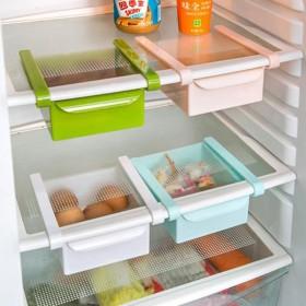 拍2份 冰箱抽屉隔板收纳架层架塑料架子多功能置物架