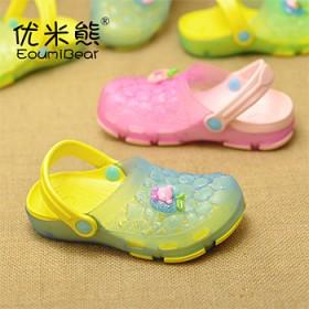 夏季男童女童洞洞鞋儿童凉鞋沙滩鞋