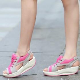 鱼嘴流行摇摇鞋凉鞋