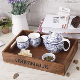 创意时尚实木茶盘餐盘水果盘托盘