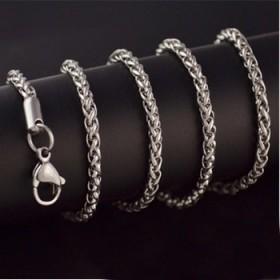 男士项链钛钢链男女配链盒子链蛇骨链