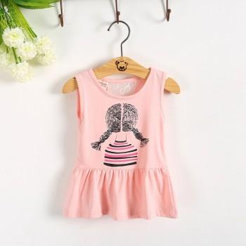 【包邮】 【包邮】 女童吊带裙衫t恤上衣裙小姑娘童装简笔裙