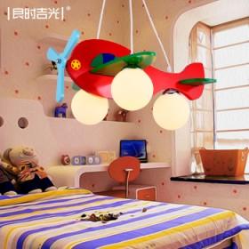 温馨儿童房灯飞机灯吊灯男孩女孩卡通吸顶灯具卧室灯饰