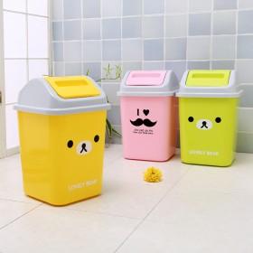 创意可爱卡通摇盖垃圾桶