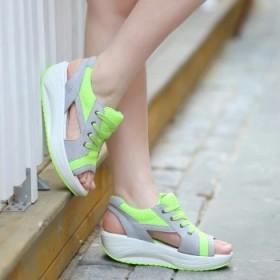 女版厚底松糕鞋摇摇凉鞋