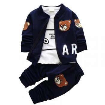 母婴宝儿童外套长袖长裤3件套秋冬款童装