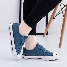 夏季新款低帮女式帆布鞋镂空透气款韩版鞋纯色