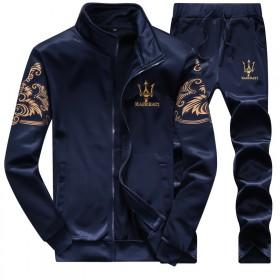 秋季男运动休闲套装长袖卫衣长裤韩版修身大码跑步服