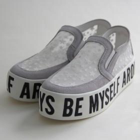 夏季蕾丝小白鞋女网鞋镂空透气平底套脚乐福懒人鞋