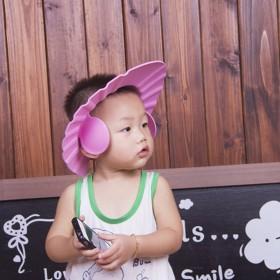 宝宝洗头帽防水护耳小孩洗澡帽可调节加大婴儿洗发帽