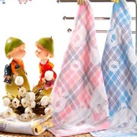 【4条装】纱布提花大方巾婴儿面巾纯棉纱布30cm