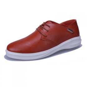 男士系带低帮鞋韩版潮流青年板鞋真皮英伦风驾车