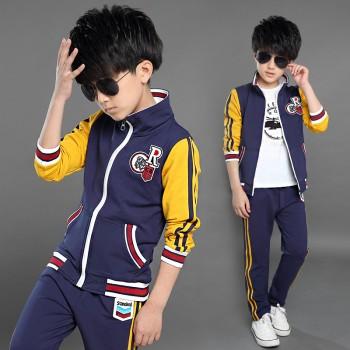 橙橙猴男童秋装套装2016新款韩版中大童运动套装