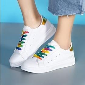新款低帮鞋女 韩版休闲运动鞋 女学生小白鞋