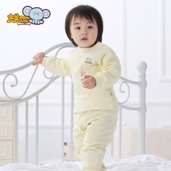 南极棉保暖内衣新生儿宝宝婴儿童装 加厚纯棉套装