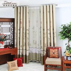 zina中式书房窗帘-竹林颂(两片)