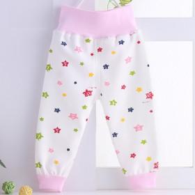 宝宝高腰护肚裤婴儿可开裆纯棉裤子夏季薄款空调裤护挤
