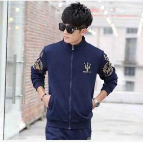 男士运动休闲套装韩版修身跑步服棒球服卫衣夹克长裤