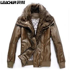 韩版pu皮修身立领夹克短款潮流外套特价 机车皮衣男