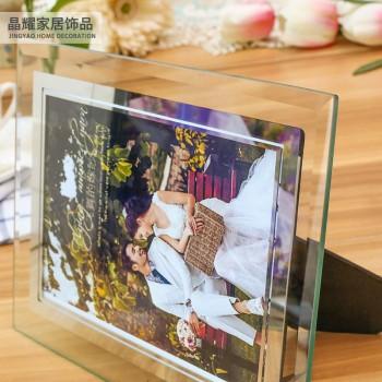 七寸水晶相框欧式照片框儿童画框玻璃框