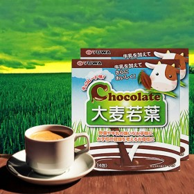 日本进口巧克力味大麦若叶青汁 通便