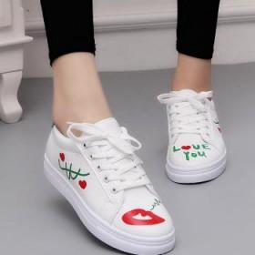 女版圆头印花单鞋